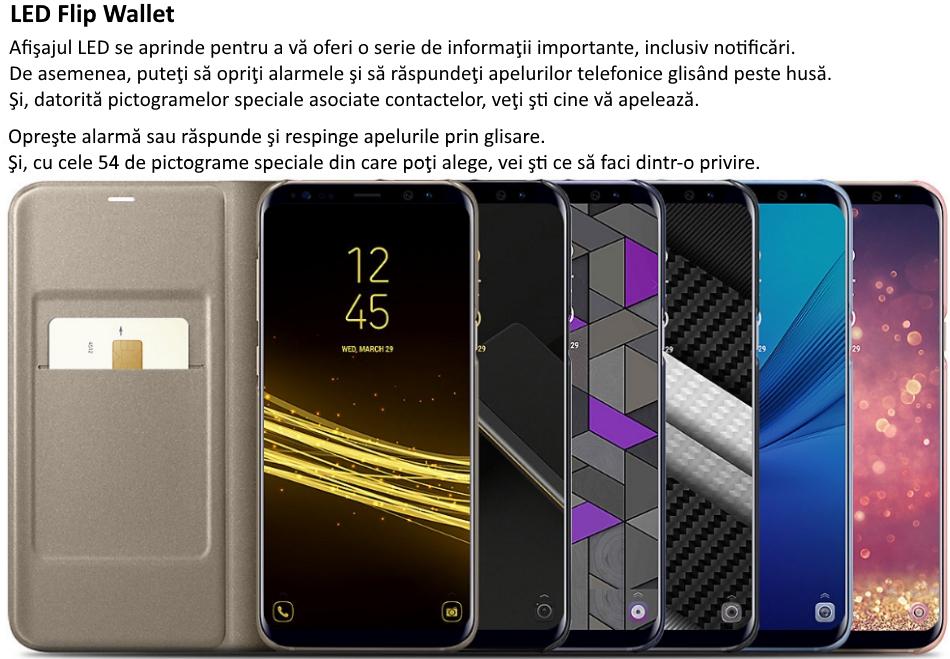 new concept 8b21a b7e46 Husa Led Flip Wallet pentru SAMSUNG Galaxy S8 Plus, EF-NG955PVEGWW ...